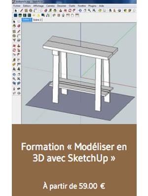 Formation 'Modéliser en 3D avec SketchUp'