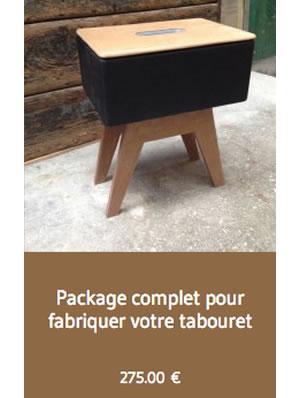 Package complet pour fabriquer votre tabouret