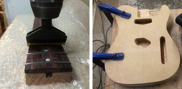 Le rendez-vous des Établisiens : fabrication d'une guitare.