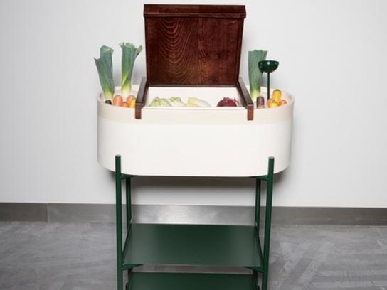 insolite un r frig rateur design qui fonctionne sans. Black Bedroom Furniture Sets. Home Design Ideas