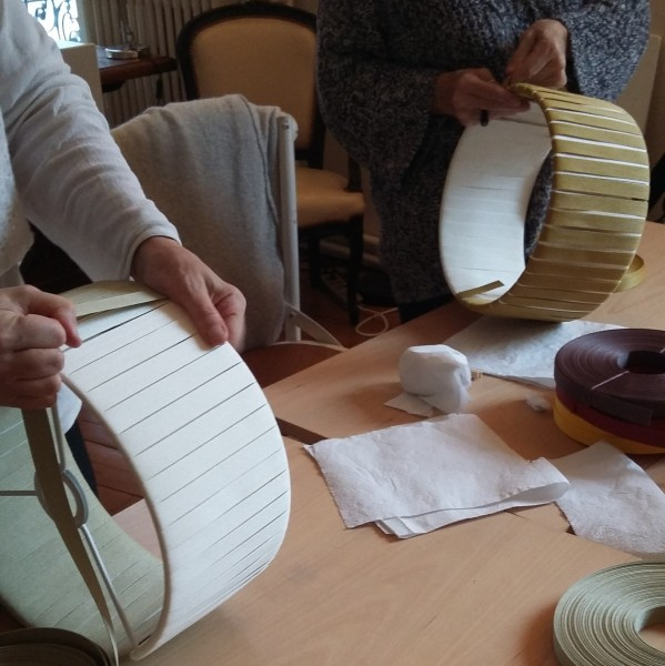 making your lampshade in japanese paper woven the kamihimo l 39 tablisienne paris workshop. Black Bedroom Furniture Sets. Home Design Ideas