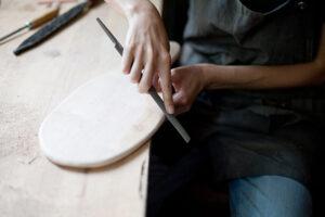 Planche à découper réalisée à L'Établisienne
